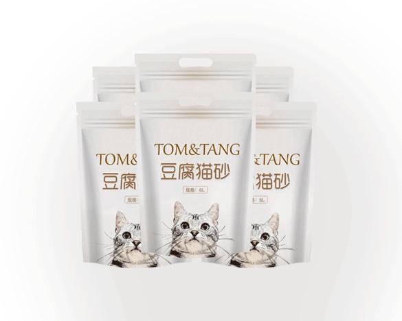 出口品质TOM&TANG原生态豆腐猫砂6L*6包
