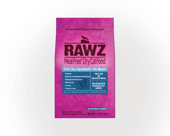 美国RAWZ罗斯全猫粮脱水鲑鱼六种肉3.5磅