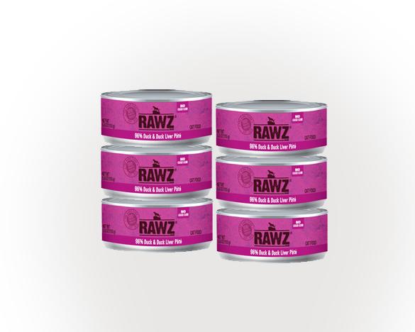 RAWZ罗斯鸭肉无谷全猫罐156g*6罐