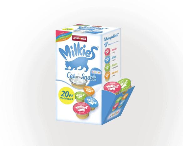 [直接买]德国Animonda猫用牛奶舔舔杯多口味混合装2盒(40*15g)