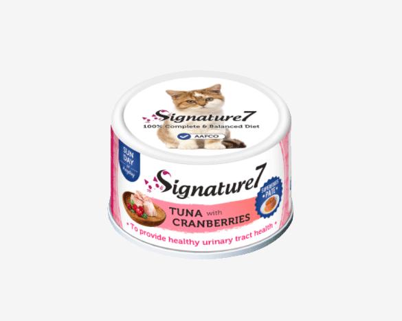 心宠怀Signature7肉酱系列小白罐 金枪鱼蔓越莓猫罐头80g*1罐