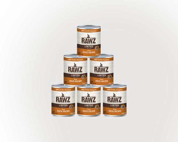 RAWZ罗斯低敏鸭肉全犬罐354g*6罐