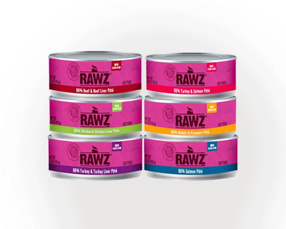 RAWZ罗斯无谷全猫罐156g*6罐  6口味组合装