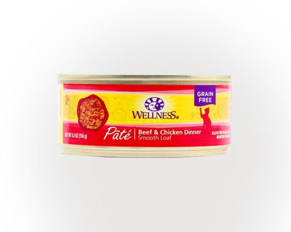 [新人3人团]wellness无谷全猫罐156g(牛肉鸡肉)单罐