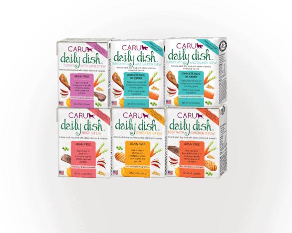 caru卡鲁daily dish系列狗餐盒354G*6盒 6口味混合装