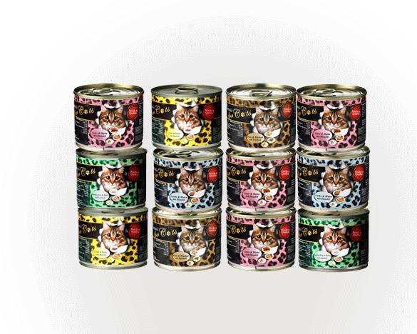 [直接买]德国Ocanis小豹纹无谷主食罐200g*12罐5口味