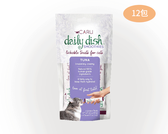 caru卡鲁纯肉猫条12包整盒装吞拿鱼口味(14G*4条/包)