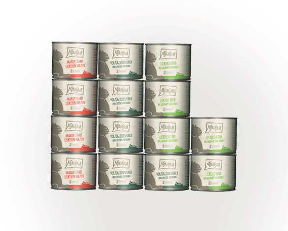 [新人3人团]德国Mjamjam全猫主食罐200G*14罐 3口味组合装