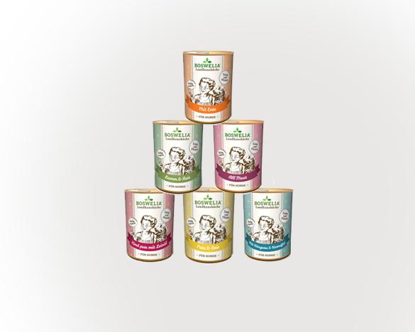 [3人团]德国Boswelia无谷全犬主食狗罐头400g*6罐 6口味组合装