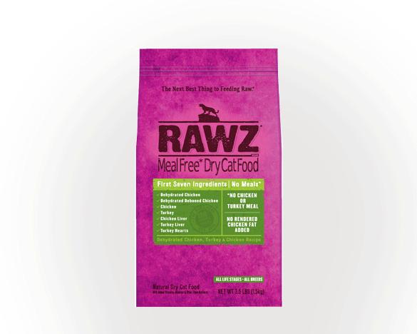 美国RAWZ罗斯无谷全猫粮脱水鸡肉火鸡3.5磅