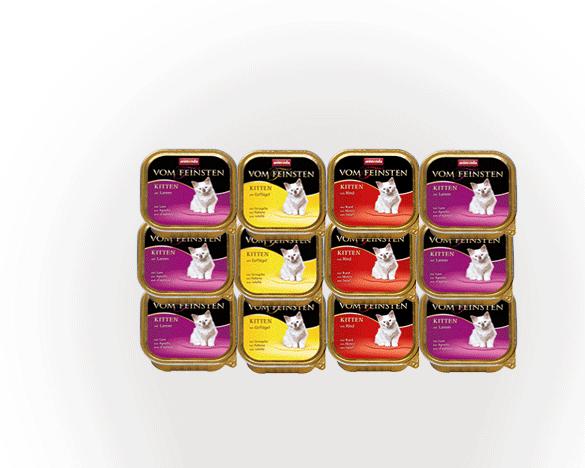 德国VOM幼猫餐盒100G*12盒 3口味组合装