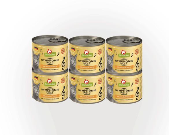 [新人3人团]德国granatapet第七交响乐鸡肉海鲜猫罐6罐