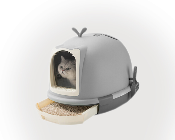 神经猫全封闭猫砂盆 送猫砂铲