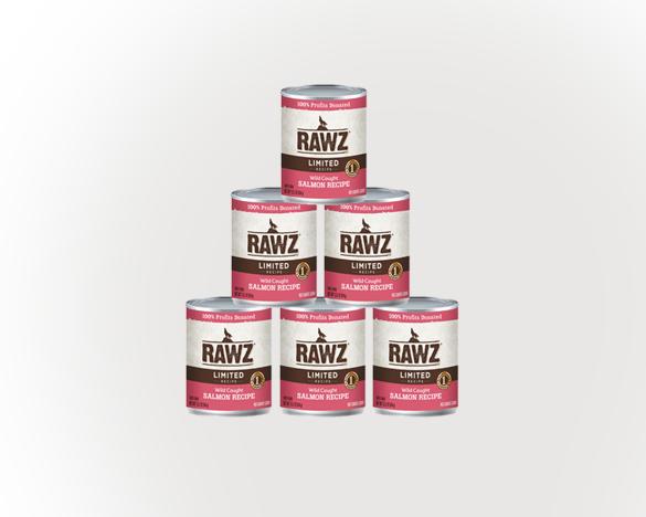 RAWZ罗斯低敏野生鲑鱼全犬罐354g*6罐