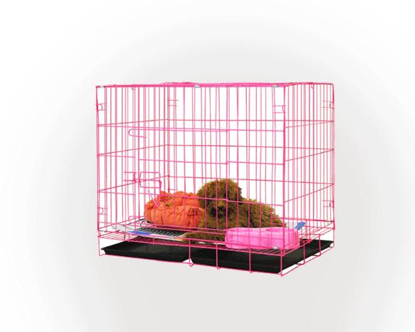 L&H乐活狗笼中型犬小型犬幼犬可爱粉70*50*60