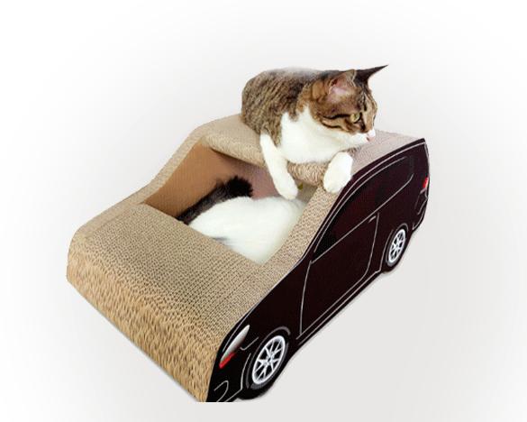 得酷瓦楞纸小轿车猫抓板