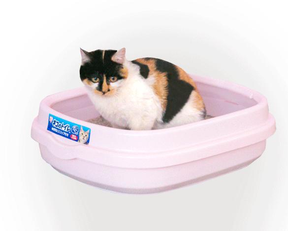爱丽思IRIS开放式半封闭猫厕M号(NE490粉色)