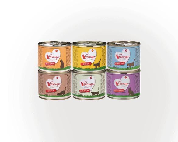 [直接买]德国Feringa全阶段主食罐混合口味200g*6罐