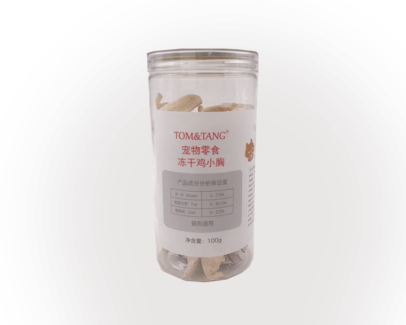 TOM&TANG生骨肉冻干鸡小胸100g*4桶(桶装)