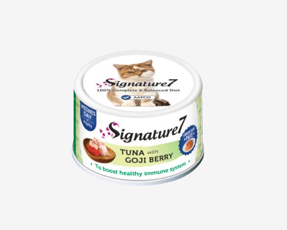心宠怀Signature7肉酱系列小白罐 吞拿鱼鸡肉枸杞猫罐头80g*1罐