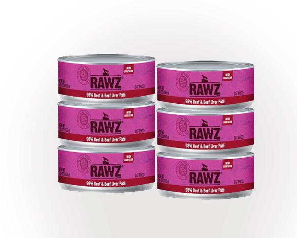 RAWZ罗斯牛肉无谷全猫罐156g*6罐