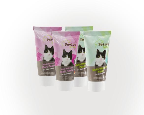 [直接买]正品标!派提拉猫用营养膏+化毛膏套装(50g*4支)
