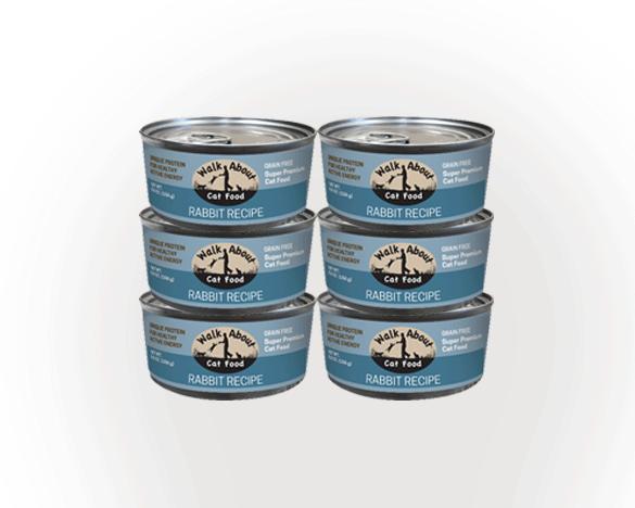 [3人团]美国进口 Walk About猫罐头兔肉口味156g*6罐