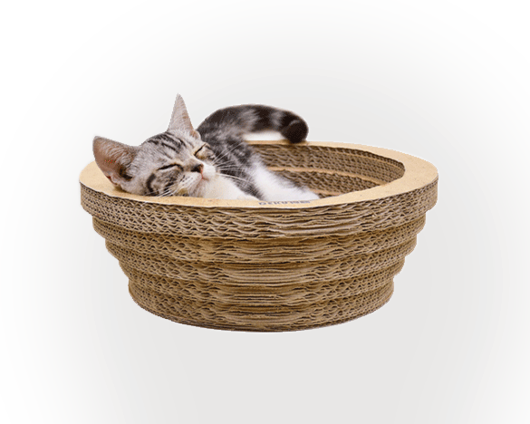 得酷经典瓦楞纸碗型猫抓板
