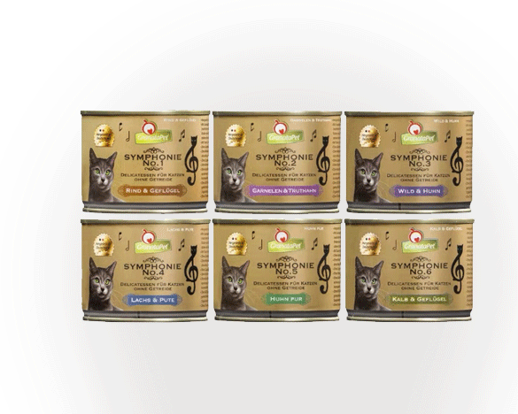 [直接买]德国granatapet交响乐猫罐混合口味6罐组合装