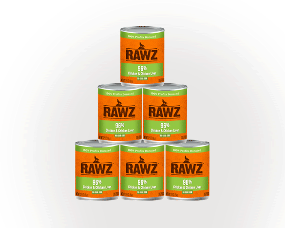 RAWZ罗斯96%含肉量鸡肉无谷全犬罐354g*6罐