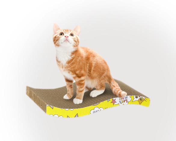 [3人团]瓦楞纸曲线猫抓板 39*12*2.5cm