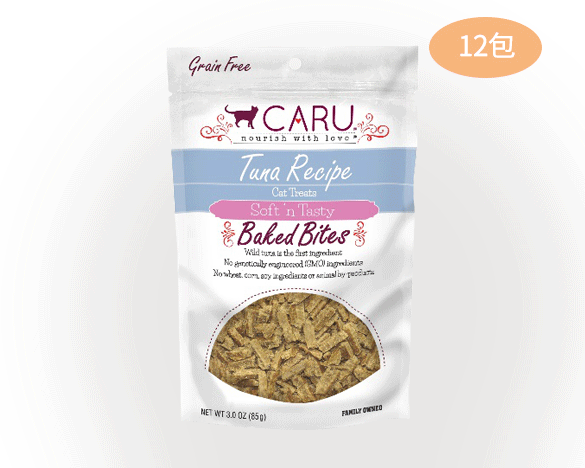 caru卡鲁低温烘焙猫肉干整盒装 吞拿鱼口味(85G/包*12包)
