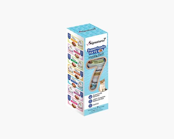 心宠怀Signature7肉酱系列小白罐七日全猫主食罐80g*7罐 1周组合装