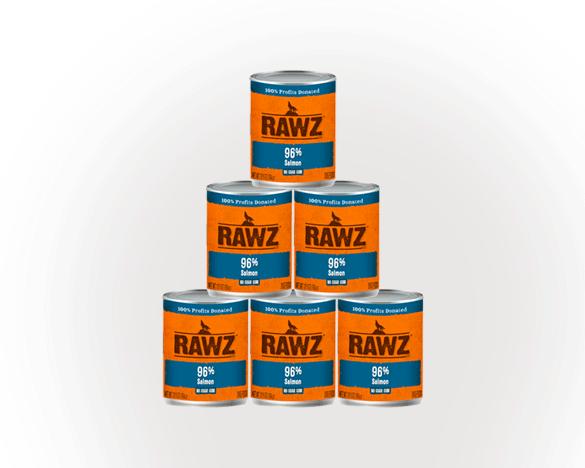 RAWZ罗斯96%含肉量三文鱼无谷全犬罐354g*6罐