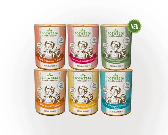 [3人团]德国Boswelia无谷主食全猫罐头6口味组合装400g*6罐