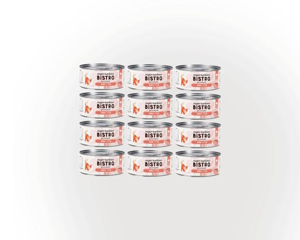 纽翠斯私厨全猫无谷主食罐156g*12罐(三文鱼口味)