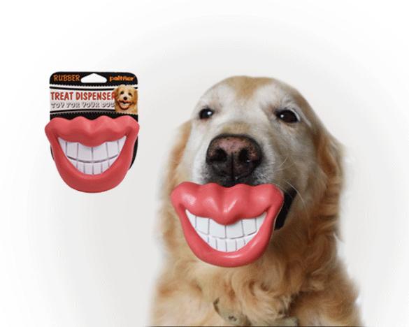 抖音烈焰红唇,狗咬胶漏食器
