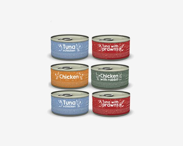 [3人团]葡萄牙黑金全猫主食罐头 85g*6罐口味随机组合