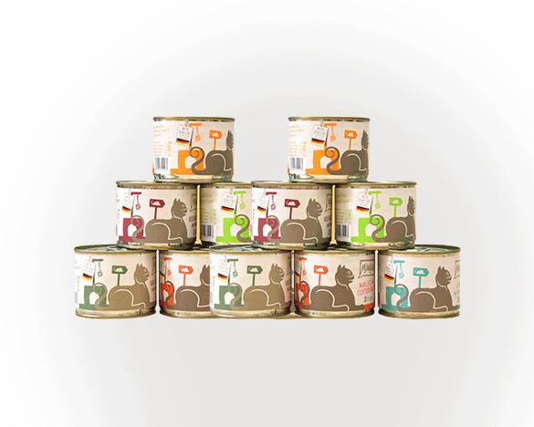 [新人3人团]Mjamjam无谷全猫罐多口味混合200g*12罐