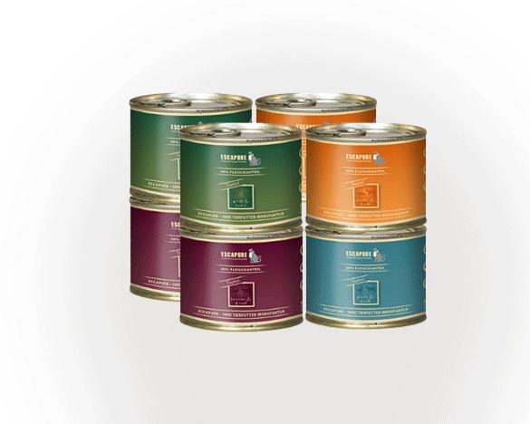 德国Escapure艾斯纯无谷全猫主食罐头200g*8罐 4口味组合装