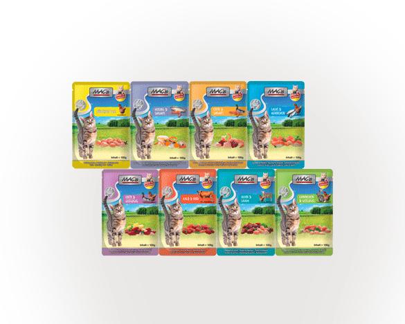 [3人团]德国MAC´S麦格式全猫主食餐包100g*8包 8口味组合装